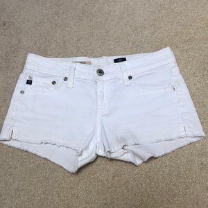 AG White Denim Short Shorts
